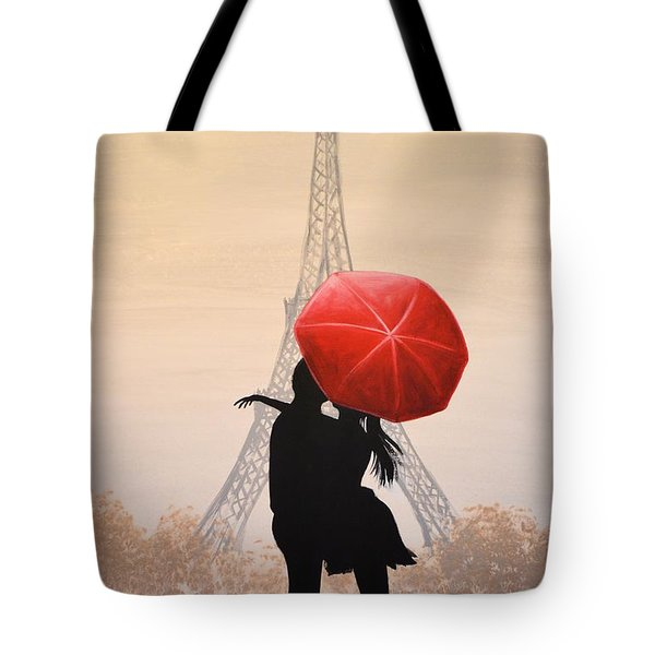 Love In Paris Tote Bag by Amy Giacomelli