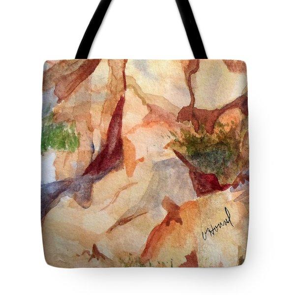 Love In The Rocks Medjugorje 2 Tote Bag by Vicki  Housel