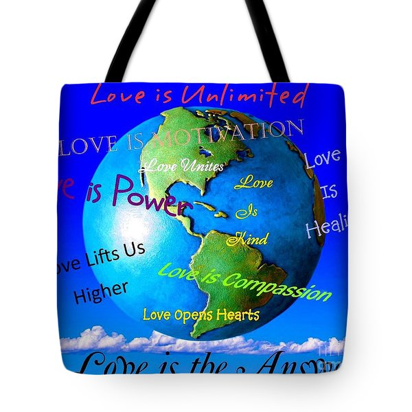Tote Bag featuring the digital art Love Is. . . . by Bobbee Rickard