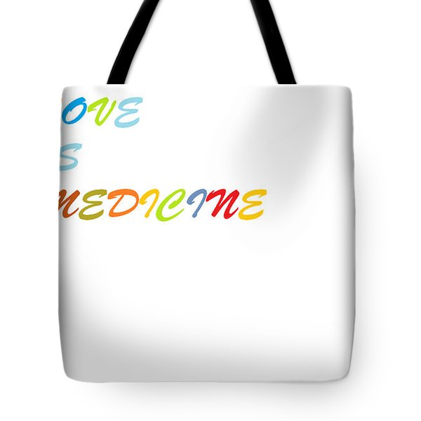 Tote Bag featuring the digital art Love Is? by Aaron Martens