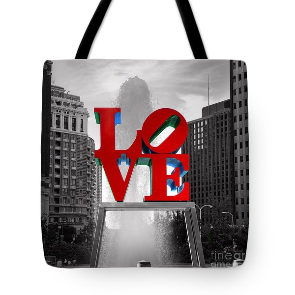 Love Is Always Black And White Square Tote Bag by Paul Ward