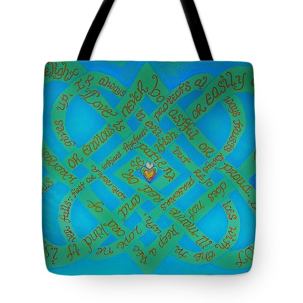Love Is Blue Tote Bag by Hidden  Mountain