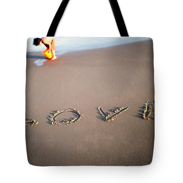 Love Is Blue Tote Bag by Mark Ashkenazi