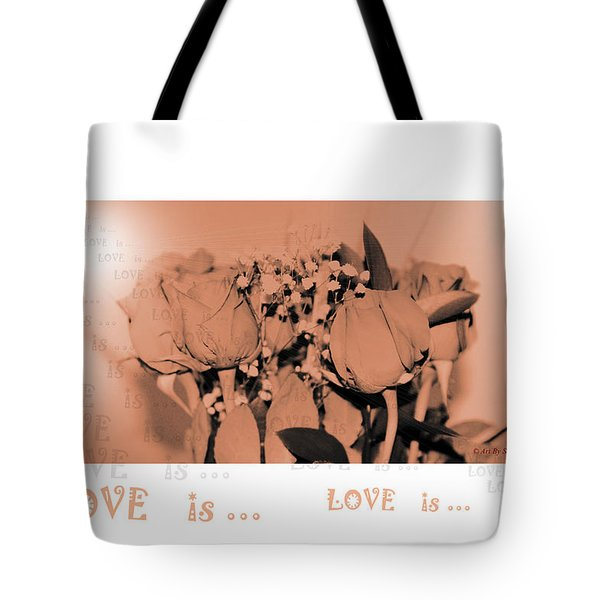 Endless Love. Love Is... Collection 13. Romantic Tote Bag by Oksana Semenchenko