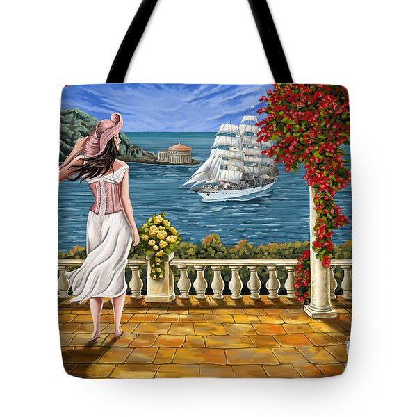 Tote Bag featuring the painting Love Is Coming Home by Tim Gilliland