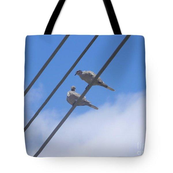 Love Is In The Air Tote Bag by Chrisann Ellis