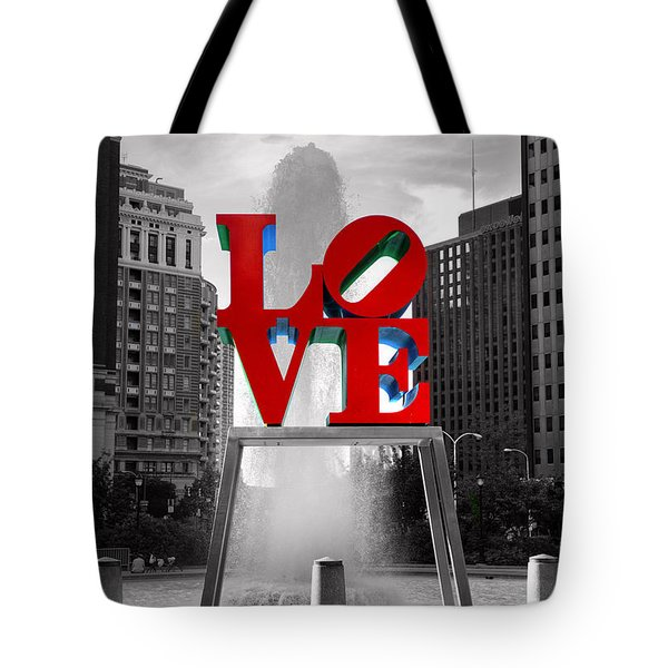 Love Isn't Always Black And White Tote Bag
