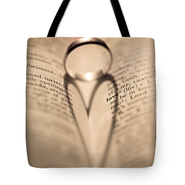 Love Tote Bag by Jan Bickerton