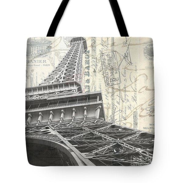Love Letter From Paris Square Tote Bag by Edward Fielding