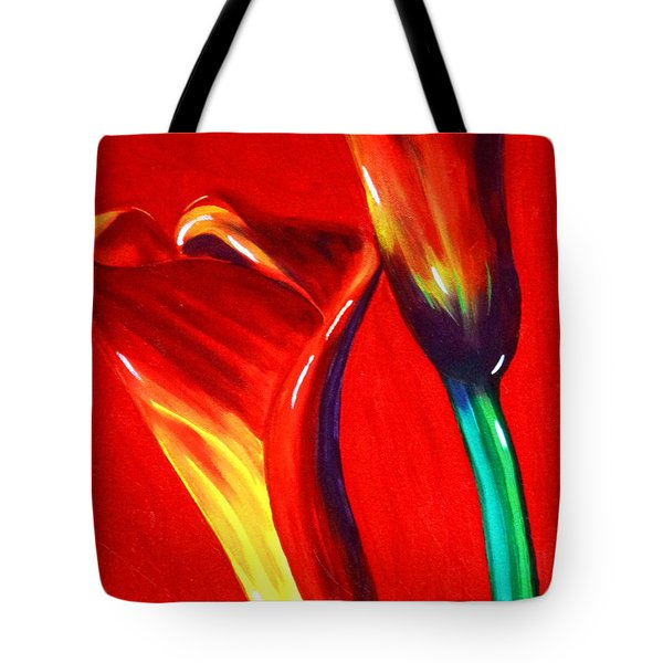 Love Lilies Tote Bag by Jackie Carpenter
