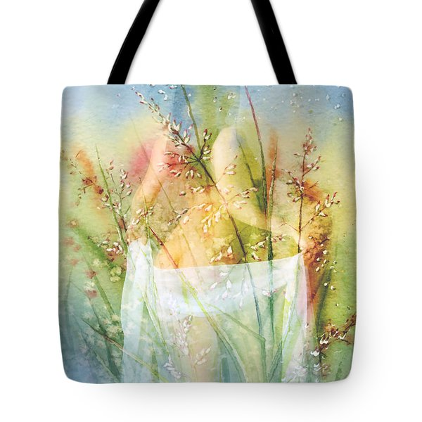 Tote Bag featuring the painting Love Me In The Misty Dawn by Isabella Howard