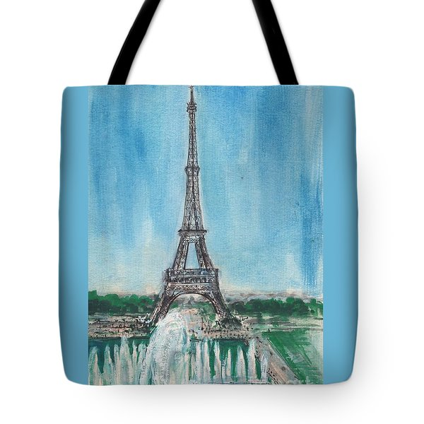 Love Of The Eiffel Tote Bag by Mary Armstrong