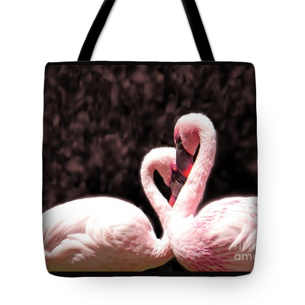 Love Of The Flamingos Tote Bag