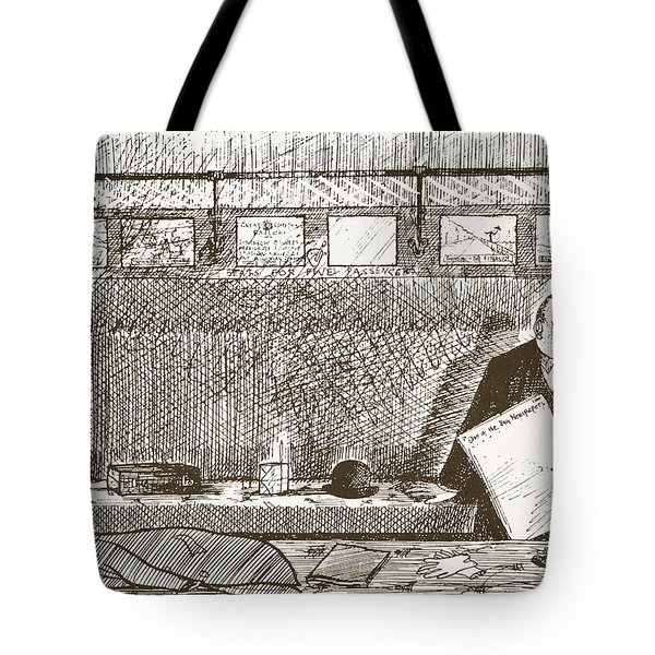 Love Of Travelling Alone, Illustration Tote Bag