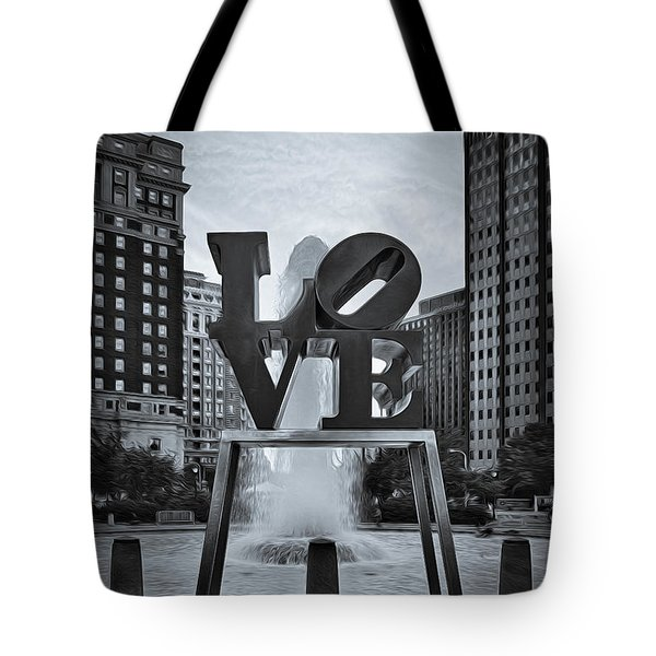 Love Park Bw Tote Bag