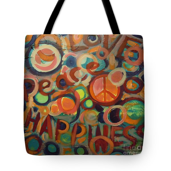 Love Peace Happiness Tote Bag