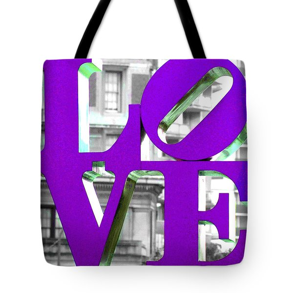 Love Philadelphia Purple Tote Bag