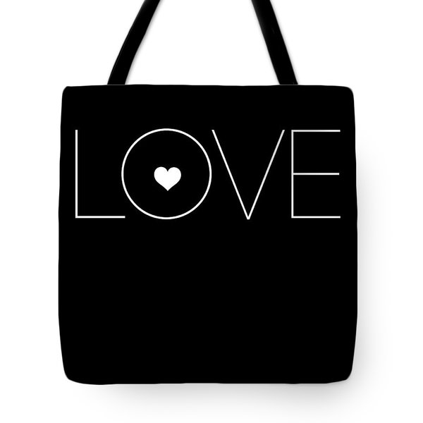 Love Poster Black Tote Bag
