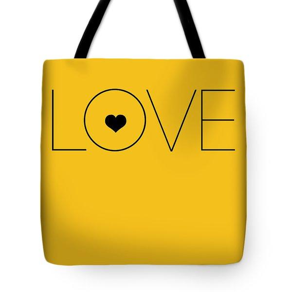 Love Poster Yellow Tote Bag