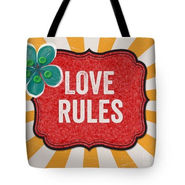 Love Rules Tote Bag