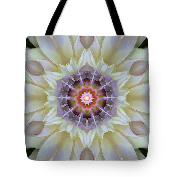 Love Star Flower Mandala Tote Bag