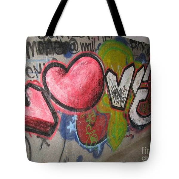 Love. Street Graffiti Tote Bag by Ausra Huntington nee Paulauskaite