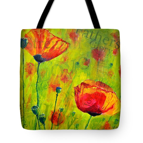 Love The Poppies Tote Bag