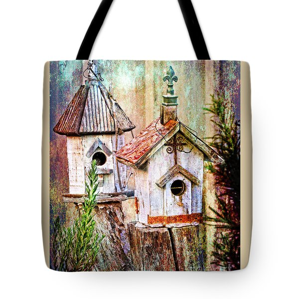 Love Thy Neighbor - Birdhouses Tote Bag