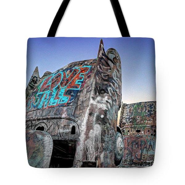 Love To All Cadillac Ranch Tote Bag