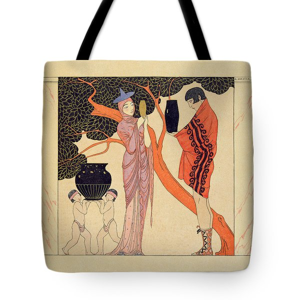 Love Token Tote Bag by Georges Barbier