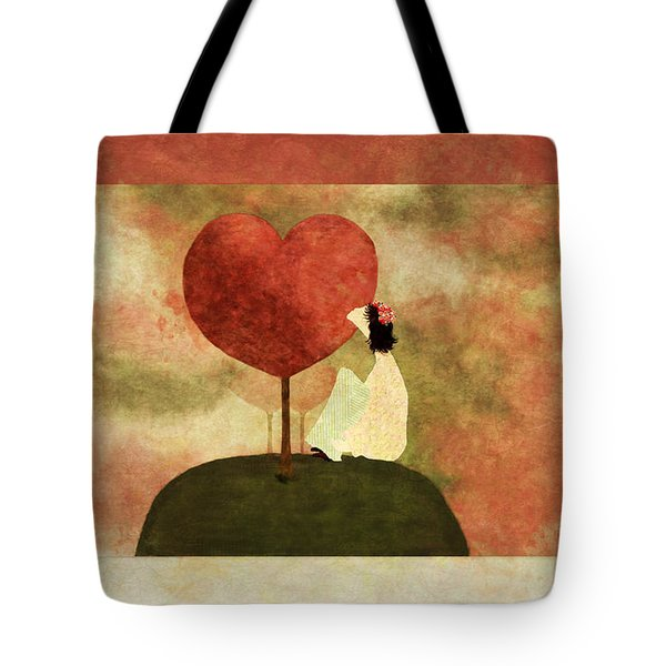 Love Tree -01b Tote Bag by Variance Collections