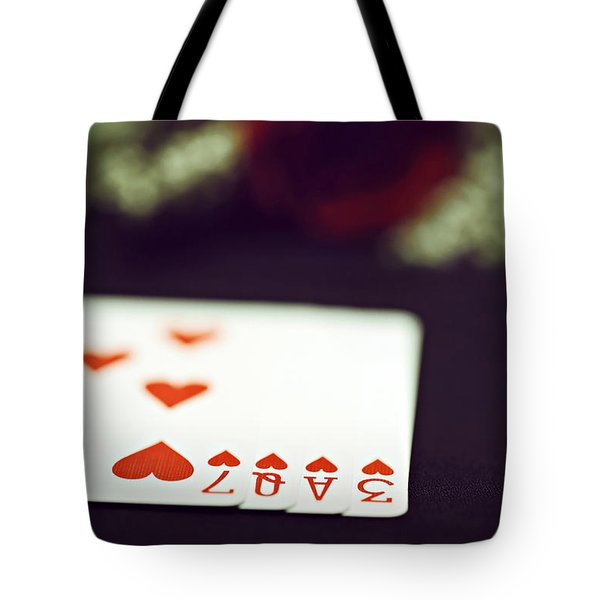 Tote Bag featuring the photograph Love Trick by Trish Mistric