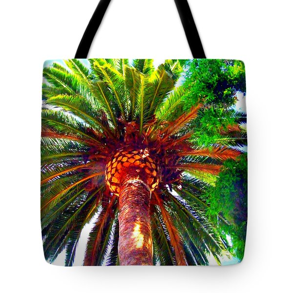 Love Under The Palm In San Diego Tote Bag