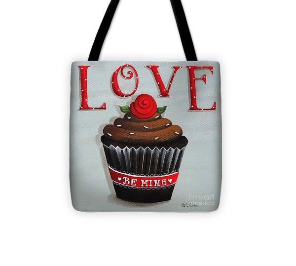 Love Valentine Cupcake Tote Bag by Catherine Holman