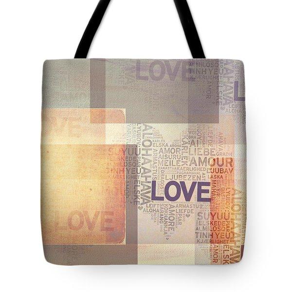 Love. Vintage. Creamy Pastel Tote Bag by Jenny Rainbow