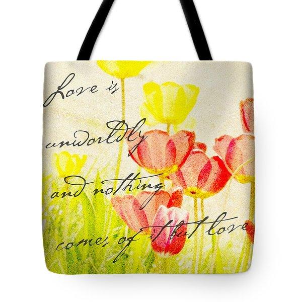Love Words Tote Bag by Kae Cheatham