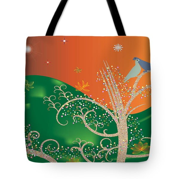 Lovebirds Tote Bag by Kim Prowse