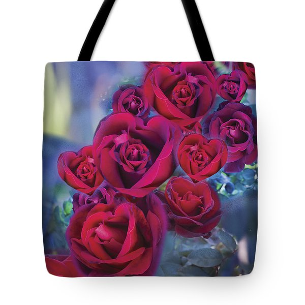 Loveflower Roses Tote Bag by Alixandra Mullins