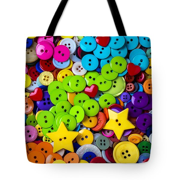 Lovely Buttons Tote Bag by Garry Gay