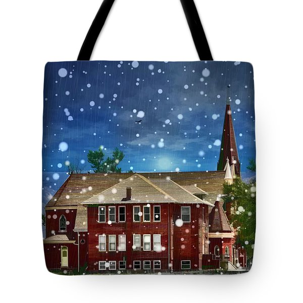 Lovely Country Church Tote Bag by Liane Wright