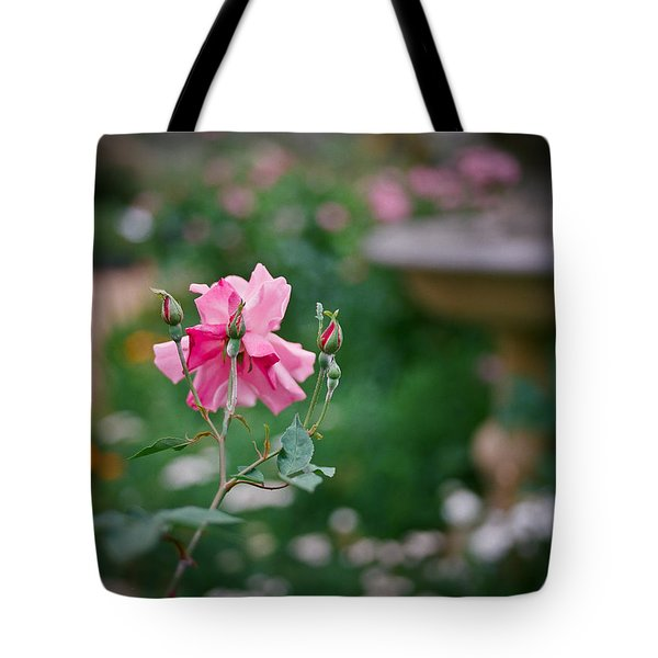 Lovely In Pink Tote Bag by Linda Unger