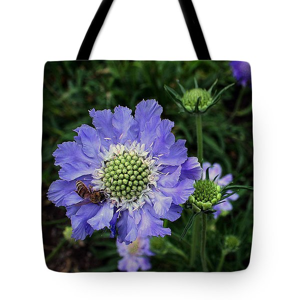 Tote Bag featuring the photograph Lovely In Purple by Ellen Tully