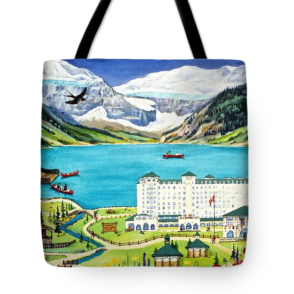 Lovely Lake Louise Tote Bag by Virginia Ann Hemingson