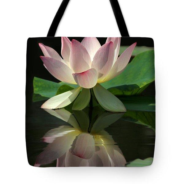 Lovely Lotus Reflection Tote Bag by Sabrina L Ryan