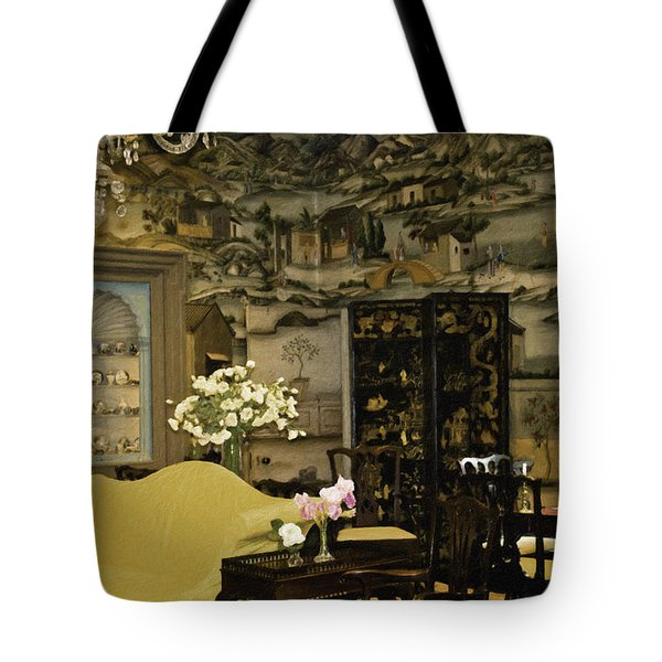 Lovely Room At Winterthur Gardens Tote Bag by Trish Tritz