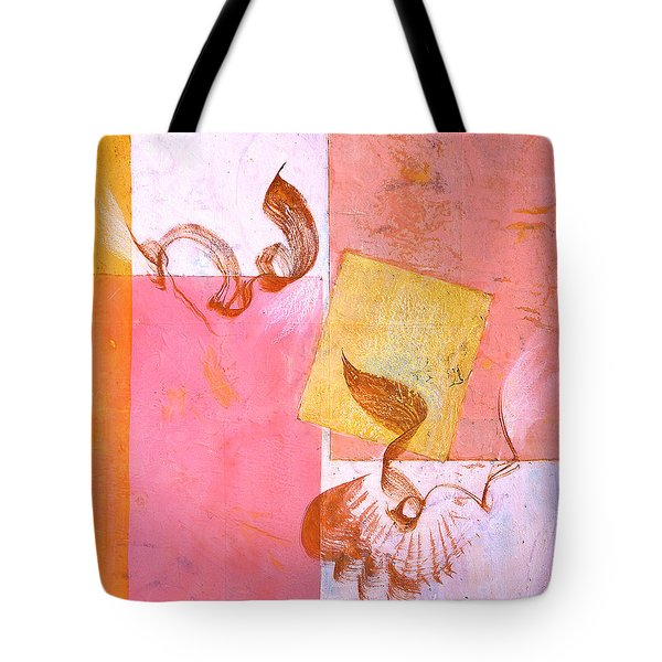 Tote Bag featuring the painting Lovers Dance 2 In Sienna And Pink  by Asha Carolyn Young