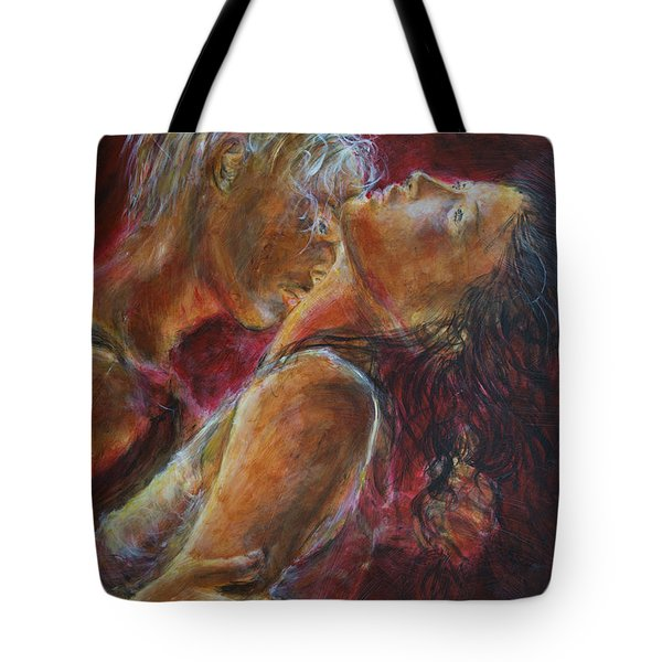 Lovers In Red Tote Bag