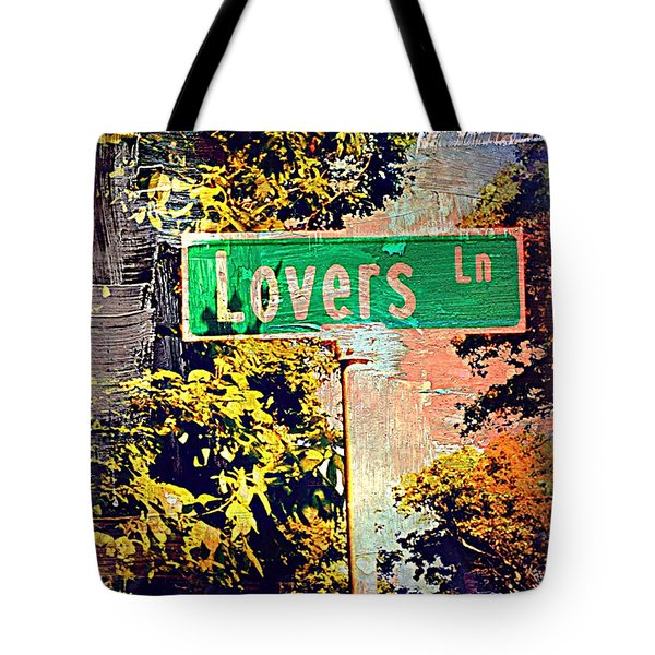 Lovers Lane Tote Bag by Beth Saffer