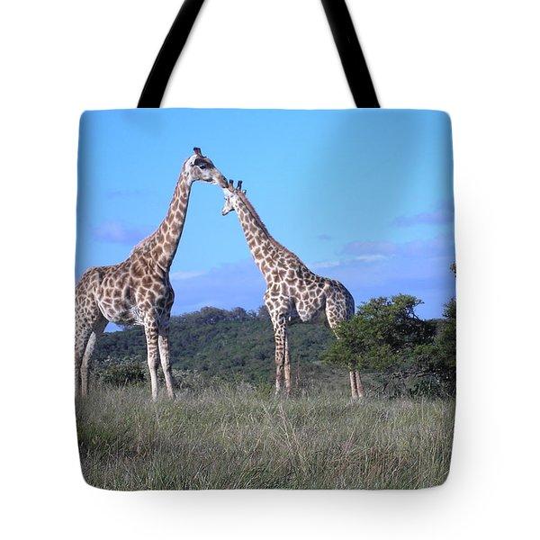 Lovers On Safari Tote Bag