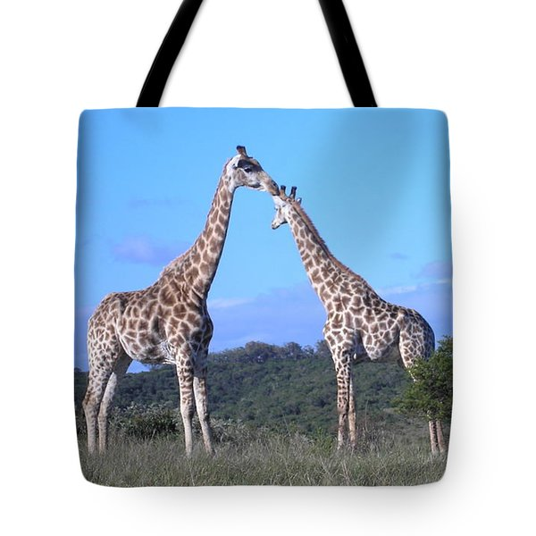Lovers On Safari Tote Bag